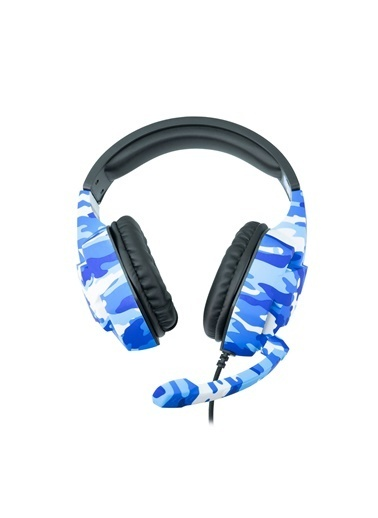 MF Product MF Product Strike 0540 Kablolu Kulak Üstü Kamuflajlı Oyuncu Kulaklığı Mavi